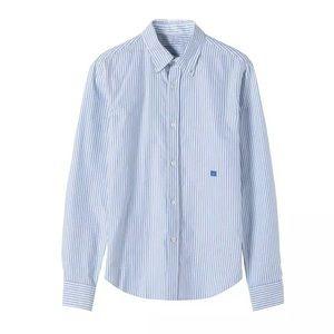 Acne studios pin stripe button up cotton shirt